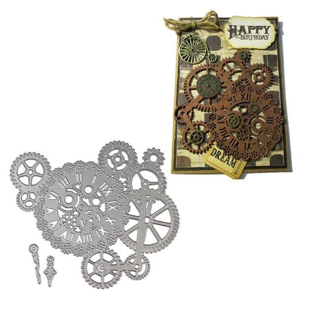 Steampunk Dies Gear Craft Die Metal Cutting Dies Cut for DIY Paper Card making Scrapbooking