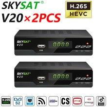 [2PCS] Satellite Receiver SKYSAT V20 CCCams Cline Newcamd WiFi DVBS2 Receptor Brazil PK SKYSAT S2020 Gt media V8 Nova