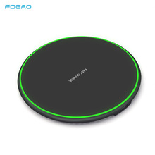 FDGAO Qi Wireless Charger 10W QC 3.0 Phone Fast Charger For iPhone X XS XR 8 Samsung S9 S8 Xiaomi Mi 9 Wireless USB Charging Pad все цены