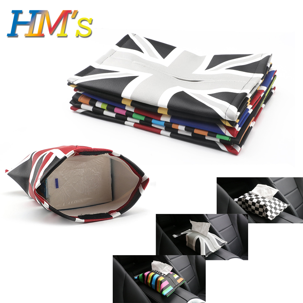For Mini Countryman R60 F60 Car Tissue Box for Mini Clubman F54 Seat Paper Towels Tissue Bag Parts for Mini Cooper R56 F56 F55|Stowing Tidying| |  - title=