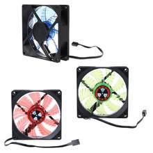 Alta qualidade 90mm led luz 3pin computador desktop caso cooler ventilador de baixo nível ruído 9025