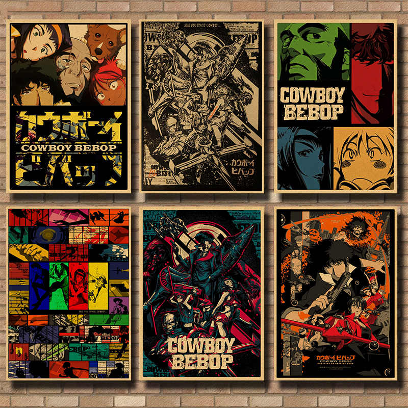 Cowboy bebop Vintage Decoratieve kraftpapier Poster DIY Muursticker Home Bar Decor Gift