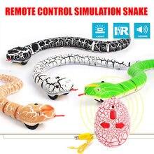16 polegadas realista controle remoto rc cobra brinquedo com em forma de contro infravermelho terrível travessura crianças brinquedos engraçado novidade presente