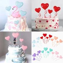 Birthday-Cake Balloon Wedding-Decoration Plastic Heart Love Macaron Dessert Table Confession