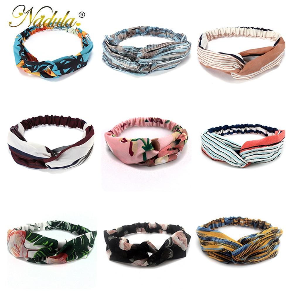 5PCS Hand Band Girls Hair Headbands Ponytail Scarf Elastic Hair Bands for Women Sent Random 1