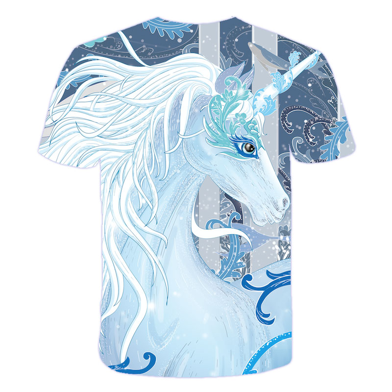 H97719f6d90664b9bb8338ec505eac7543 Baby Girls T-shirt 4 5 6 7 8 9 10 11 12 13 14 Years Unicorn Kids T Shirt Children Clothes Summer Unicorn T shirts Girl s Tee