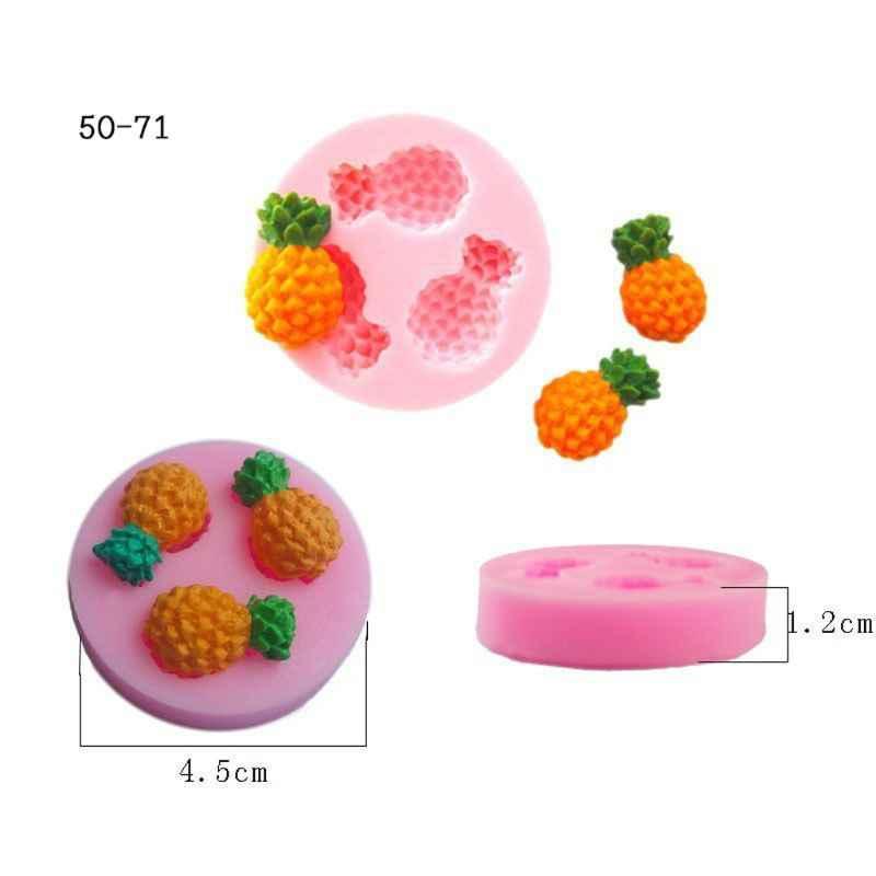 Frutas morango pêssego abacaxi uva silicone resina molde jóias fazendo ferramentas