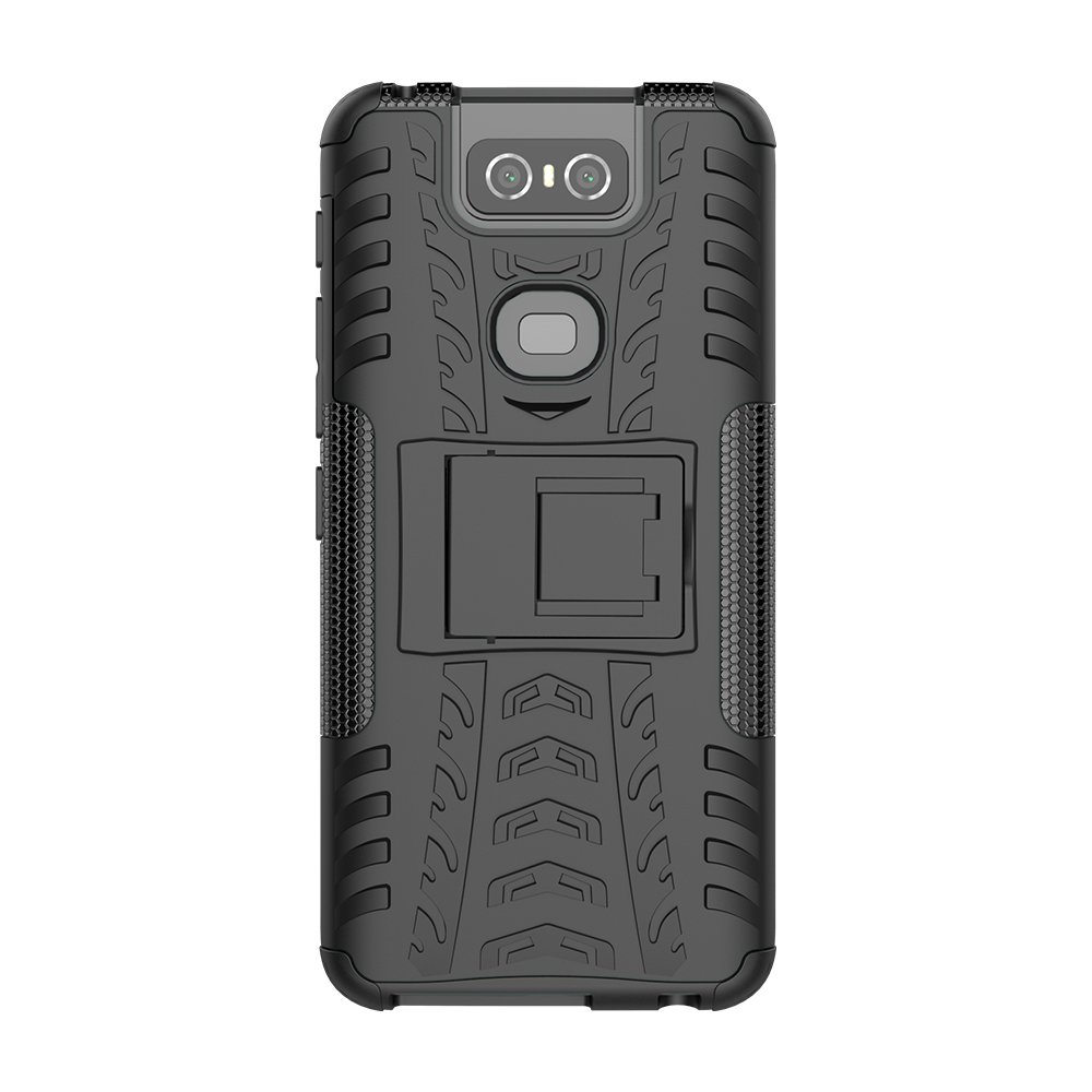 For Asus Zenfone 6 ZS630KL TPU PC Heavy Duty Armor Back Cover For Asus Zenfone 6z Phone Case For Asus Zenfone 6 2019 Cover in Fitted Cases from Cellphones Telecommunications