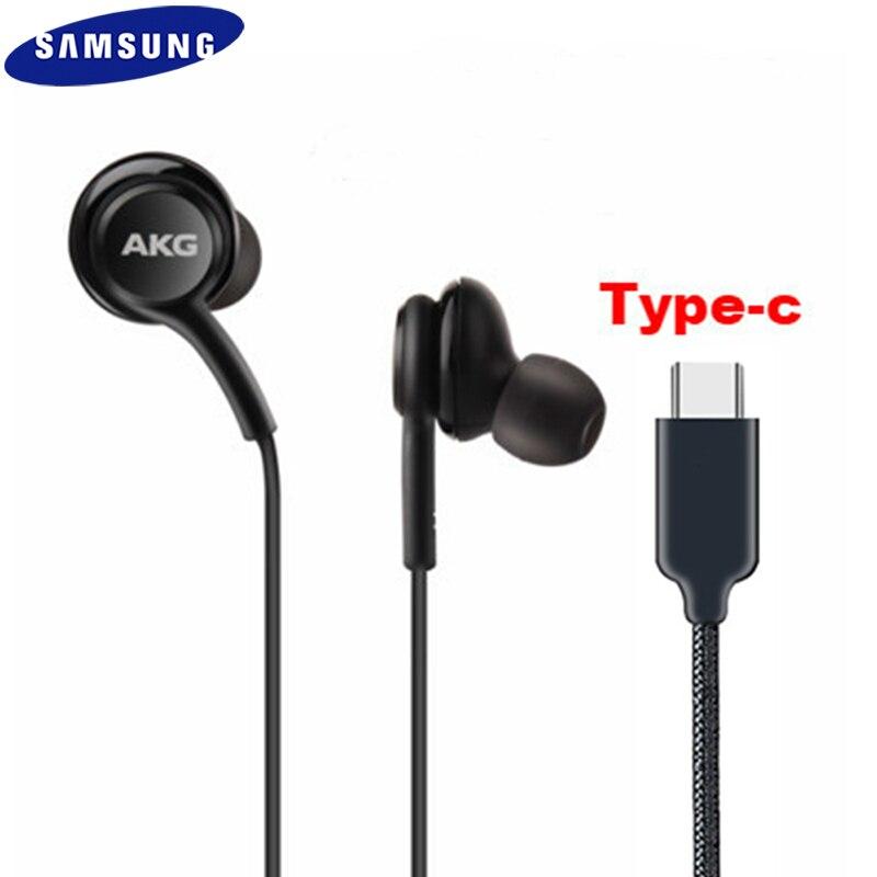 Samsung galaxy note 10 20 + tipo c fones de ouvido in-ear microfone controle de volume USB-C fone de ouvido para s20 nota 20 ultra s20 + a90 a80 a60