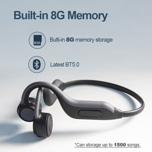 Image 2 - GGMM Headphones Bluetooth 5.0 Bone Conduction Wireless Headset Built in 8G Memory Card IPX67 Waterproof HD Mic Sports Earphones