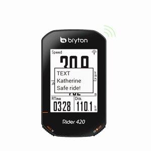 Image 3 - 2020 חדש Bryton רוכב R420 אלחוטי GPS GNSS / ANT + Bluetooth מהירות מקצב לב שיעור כוח אופני אופניים רכיבה על אופניים מחשב