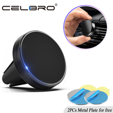 Car Phone Holder Magnetic Air Vent Mount Mobile Smartphone Stand Magnet Support Cell in Car GPS For iPhone XS Max Samsung Xiaomi cheap CELBRO Magnetic Car Phone Stand Universal Aluminium Alloy Mini Magnetic Car Phone Stand Aluminium Alloy + Silicone about 30g