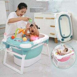 Baby Dusche Tragbare Silikon Kinder Badewanne Zubehör Baby Falten Anti-skid Badewanne Schwimmbad Neugeborenen Baby Produkte