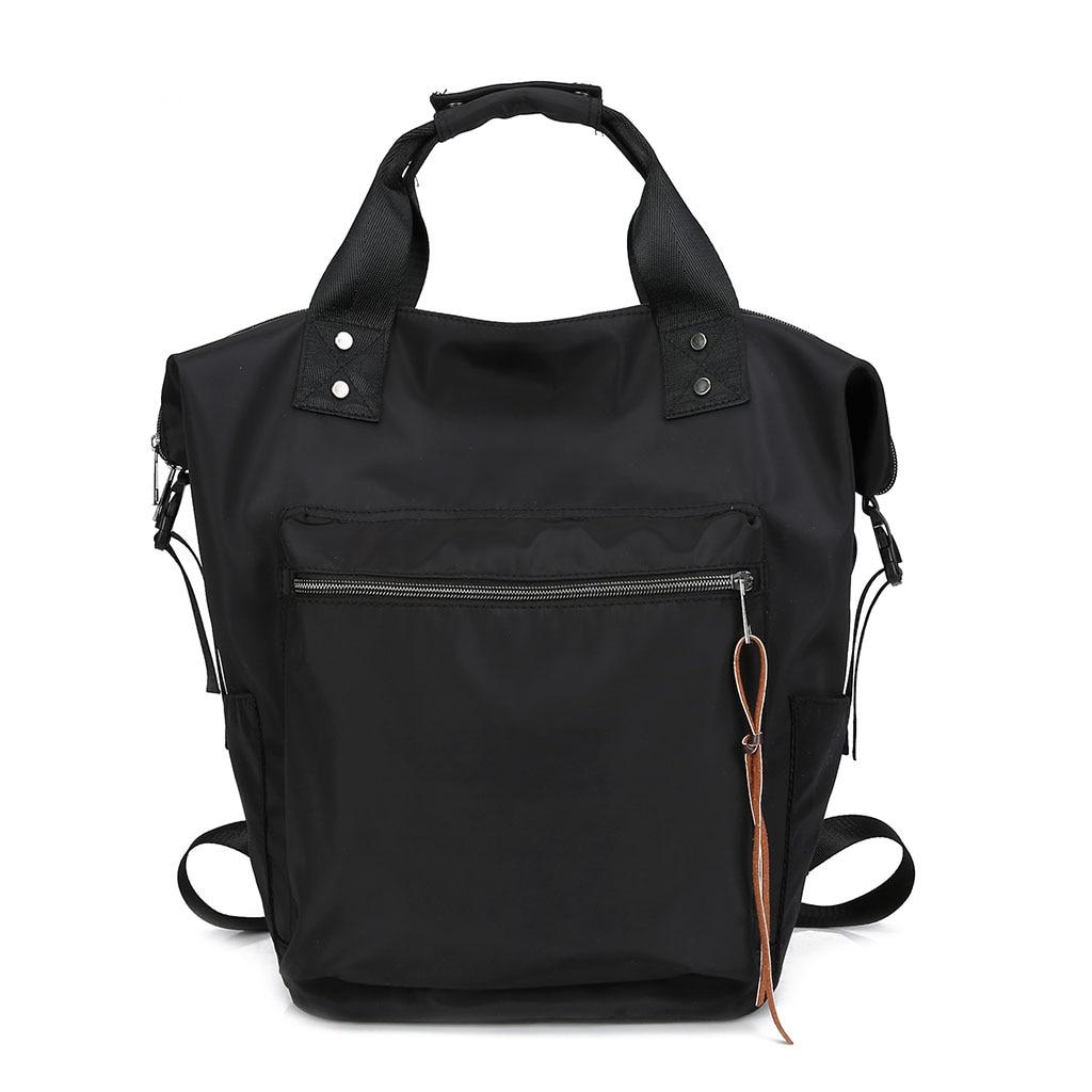 Women Waterproof Multifunctional Tote Shoulder Handbags Nylon Fashion Backpack