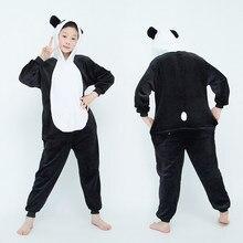 Pijama Panda Onesies Unicórnio Para Crianças Meninas Do Bebê Pijamas Meninos Pijamas Animal Tigre Burro Licorne Macacão Crianças Macacões