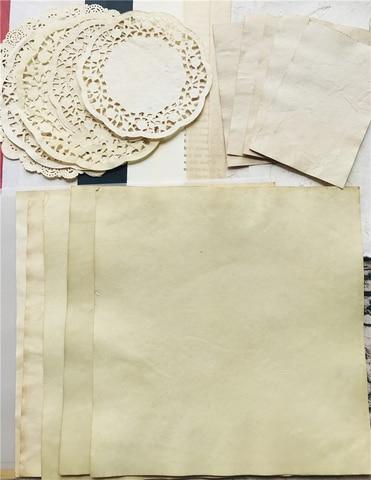 59 pcs vintage laco cafe papel acido sulfurico retro pratico antigo material de fundo colagem