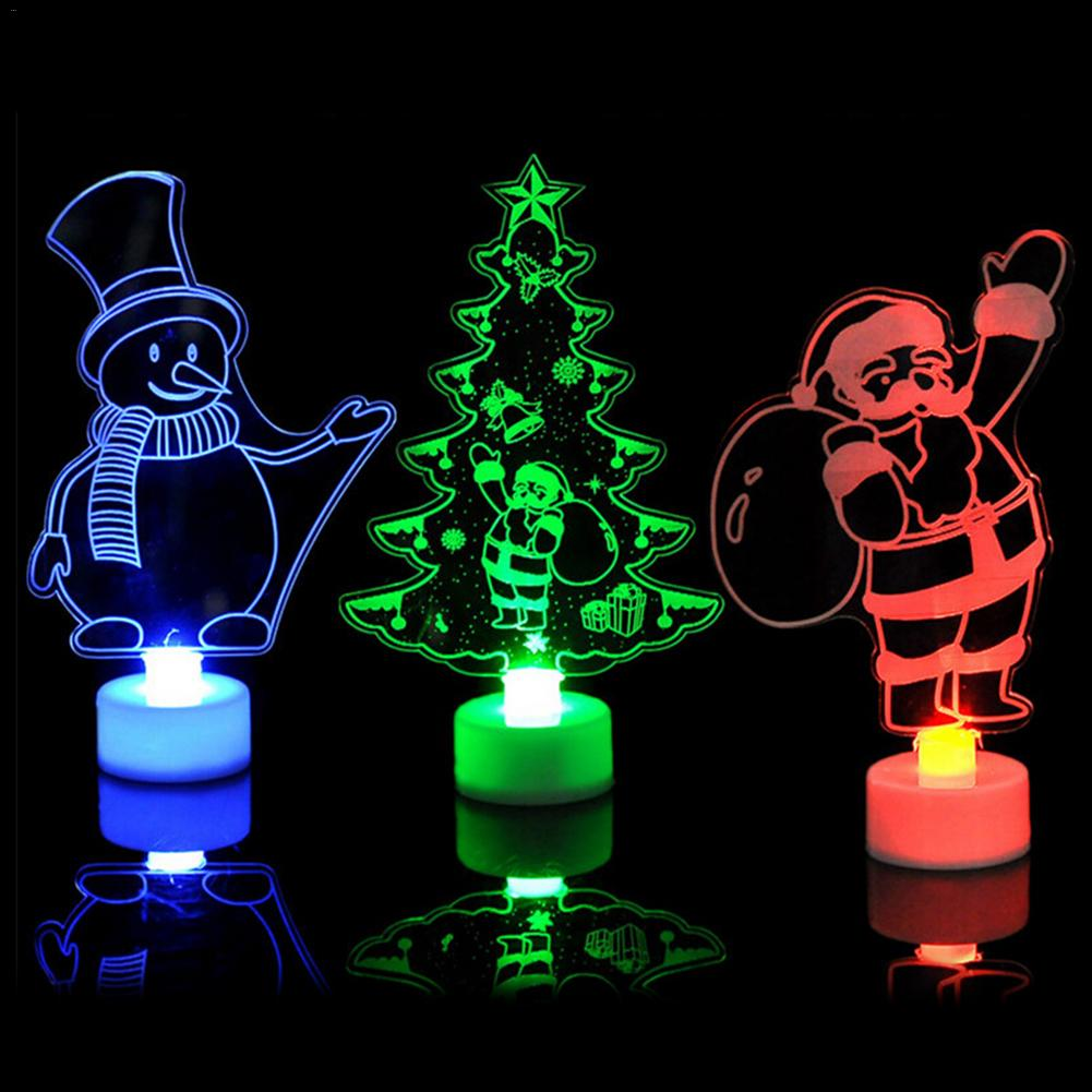 Christmas Gift Creative 3D Snown Man Night Light 7 Colors LED Lamp Decoration Light Atuo Rainbow Color Change Table Desk Lamp