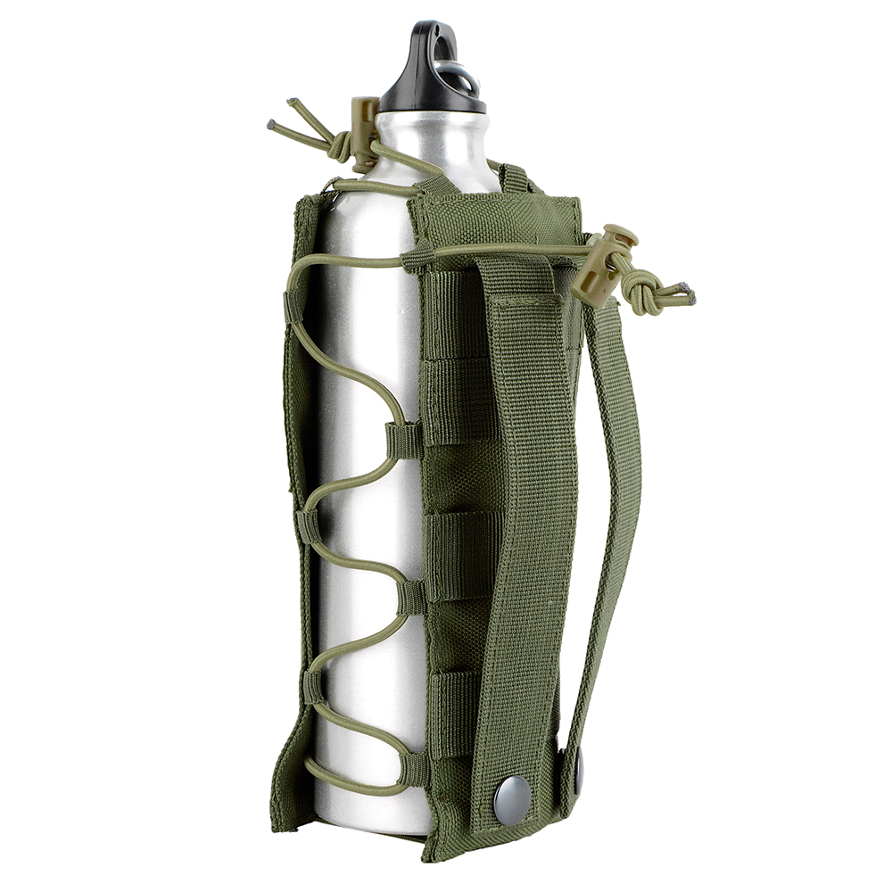 Portable Tactical Water Bottle Military Pouch Holder Carrier Molle Kettle Bag