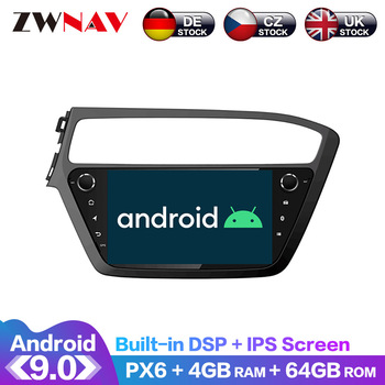 Android 9.0 IPS Screen PX6 DSP For Hyundai I20 2018 2019 2020 Car No DVD GPS Multimedia Player Head Unit Radio Audio Stereo