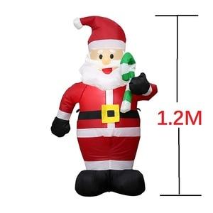 Image 2 - Estátua inflável 2021 decoração da festa de natal hotel inflatables papai noel bonito 120cm ano novo decoração para casa kerst natal