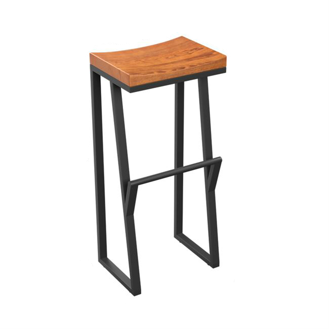 Retro Bar Chair Wrought Iron  Stool Solid Wood   Creative High  Leisure   Front Coffee