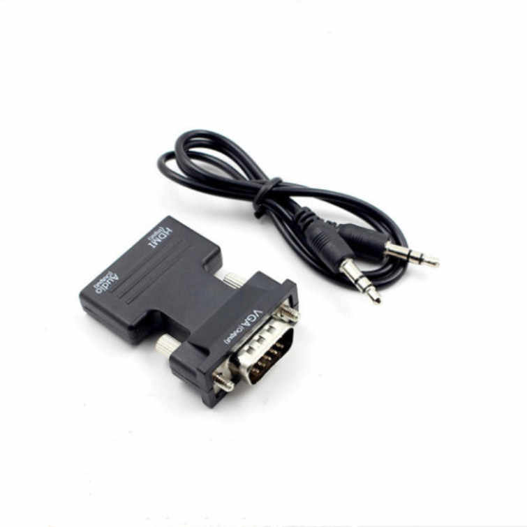 1080P HDMI to VGA Adapter Digital To Analog Audio Video Converter Cable for PC Laptop TV Box Projector With Audio Cable