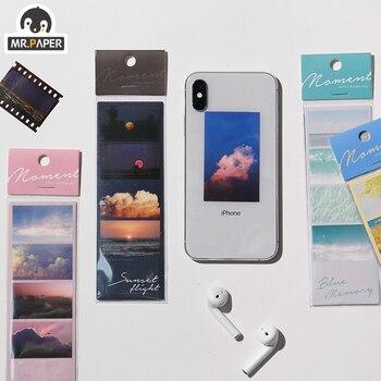 El Sr. De papel 4 diseños 3 uds fantasía opiniones Sunset Ins serie pegatina trasera planificador de colección de recortes japonés decorativo adhesivo de papelería