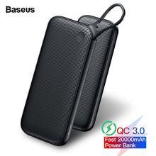 Baseus 20000 мАч Quick Charge 3,0 Мощность банка для Xiaomi Mi 20000 мА/ч, USB C PD быстрая Портативный внешний Батарея Зарядное устройство Мощность банка