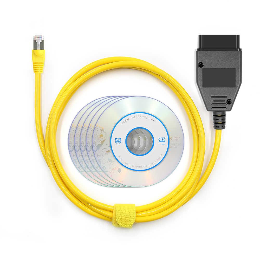 Esys enet ferramenta de diagnóstico do carro de cabo para bmw f-serie atualizar dados ocultos E-SYS icom codificação ecu programador obd obd2 scanner