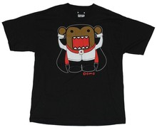 Domo (Internet Star) Mens T-Shirt - Domo Dressed as a Vampire Image on Black(China)