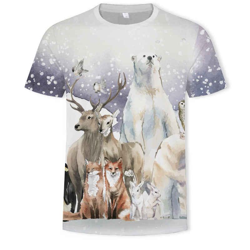 פילים עומד על כדור הארץ T חולצות גברים בעלי החיים Tshirts מזדמן קיר T חולצה 3d מופשט הדפסת אפור חולצת טי מודפס Mens בגדים