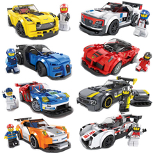 City Super Racers Compatible Legoed Speed Champions Racing Car Model Building Blocks Bricks Kids Toys Sets Kits Childen Gift Set