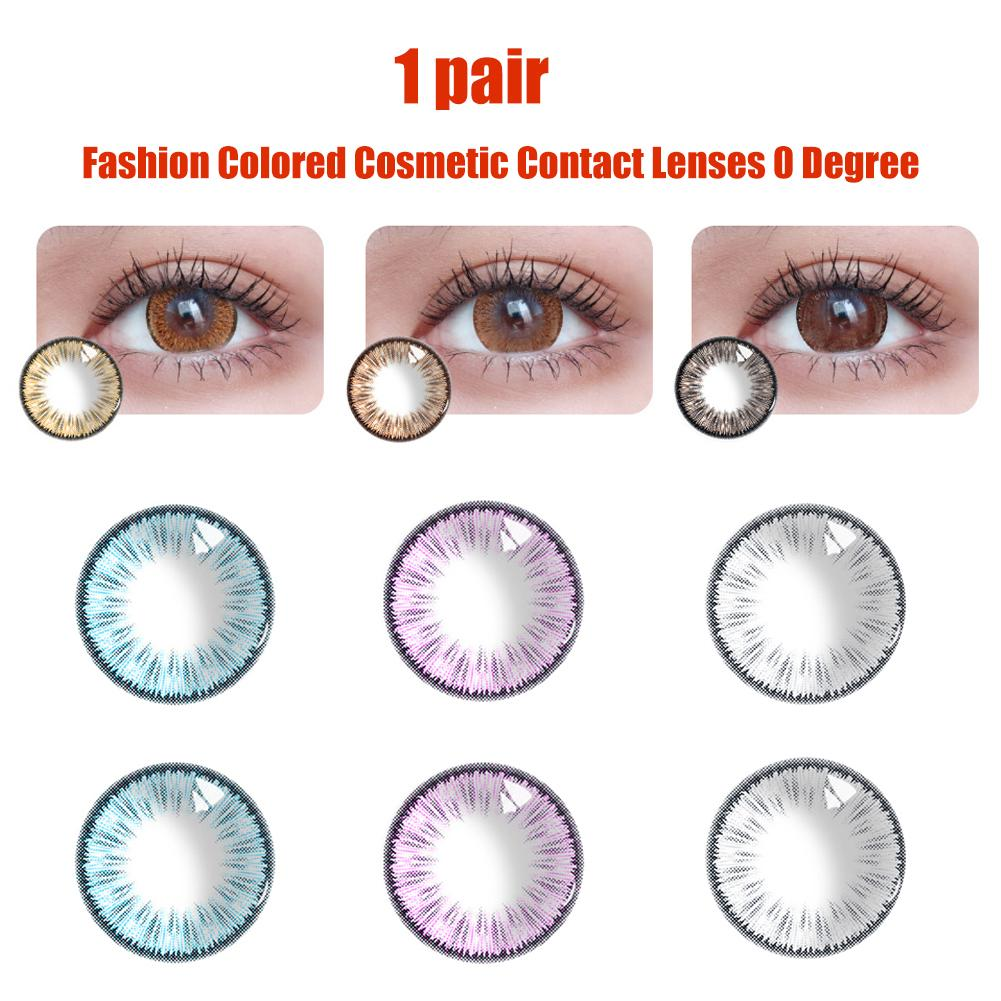 1Pair/2Pcs Fashion Colored Cosmetic For Big Eyes Lenses Thin Party Cosplay Beauty Makeup Tools