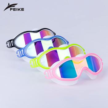 Anti-fog okulary pływackie chłopcy dziewczęta okulary pływackie dla dzieci okulary wodne Zwembril wodoodporne gogle dla dzieci gogle pływackie tanie i dobre opinie Aotu Octan 55mm Black 07136 Poliwęglan Niebieski 155mm