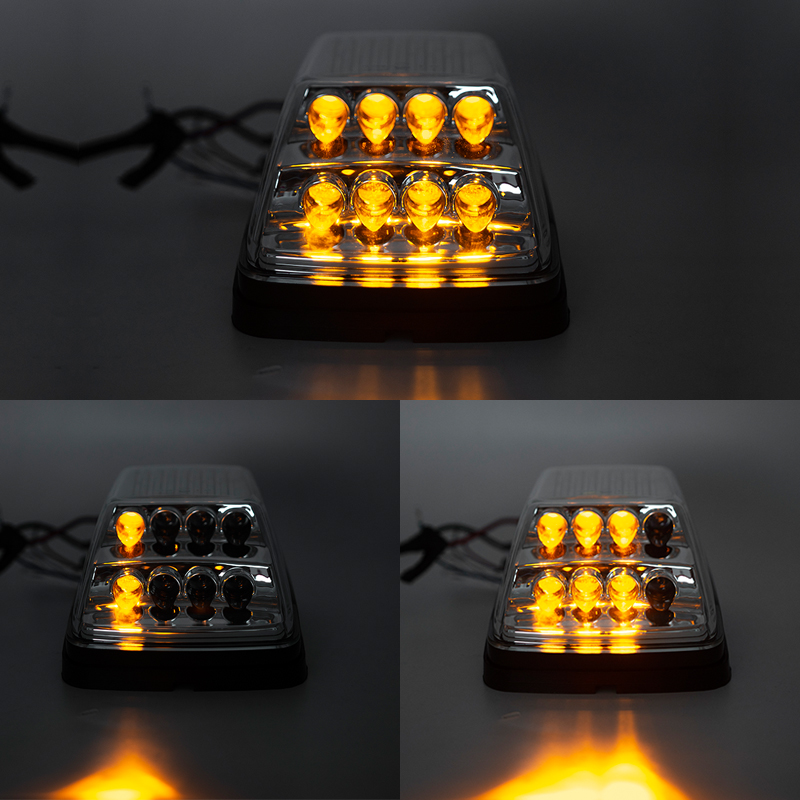 Front Wing Turn Signal Light Kits For 1990-2018 Mercedes W463 G-Class G500 G550 G600 G55 G63 AMG Amber LED Sequential Turn Signal Corner Lights White LED Position Lights Black Lens E4 Approved