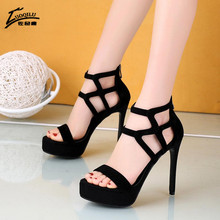 2020 Gladiator Sandals Women 12CM Thick-heeled Summer