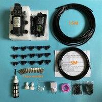 S368 12V Water Spray Electric Diaphragm Pump Kit Portable Misting Kits + 12 PCs 0.15mm 12 PCs 0.3mm 12 PCs 0.4mm