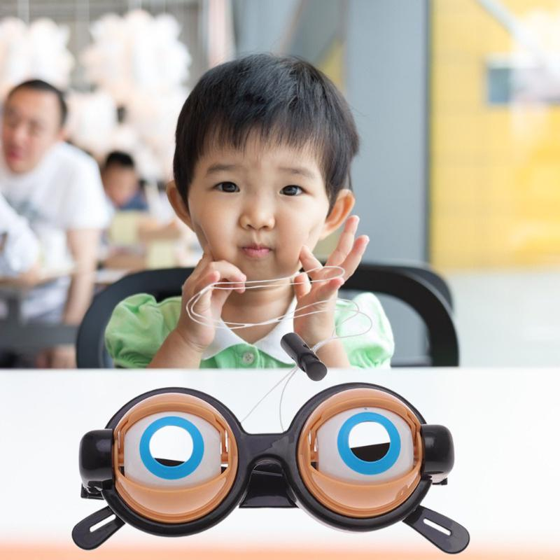 Crazy Eyes Toy Creative Children Party Funny Prank Glasses Toys For Halloween Christmas Birthday Gift