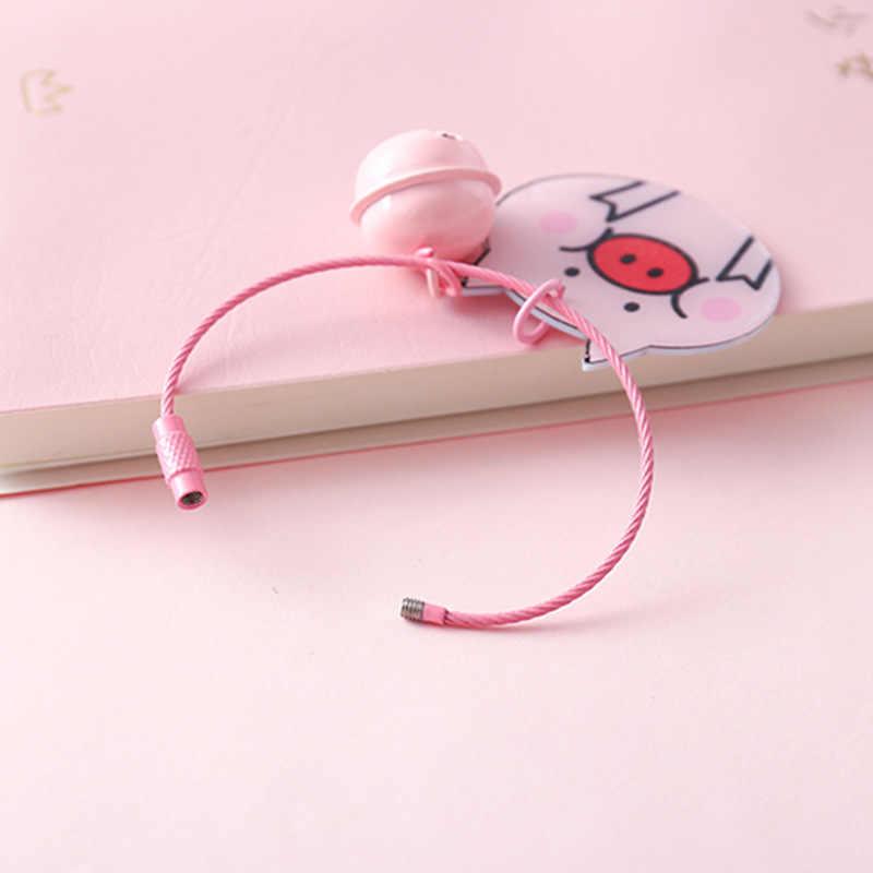 Rosa dos desenhos animados Porco Sino Boneca Chaveiro Chave Dom Anel Para Homens Mulheres Meninas Saco Estudante Pingente Figura Encantos Chave Do Carro cadeia de Jóias