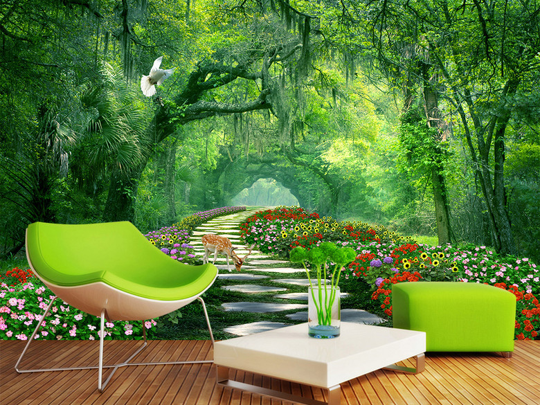 Custom 3D Wall Mural Wallpaper Home Decor Forest Woods Nature Landscape 3D Photo Wall Paper For