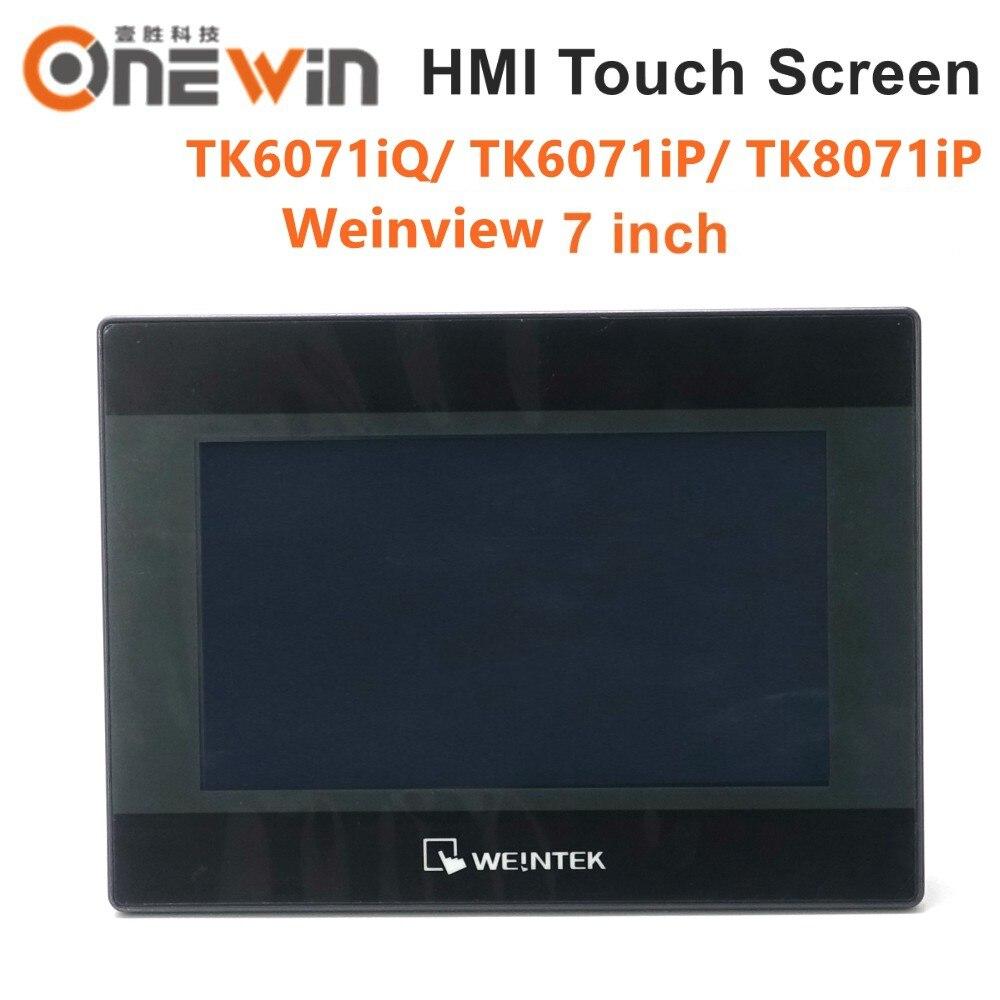 Weinview/weintek tk6071iq tk6071ip tk8071ip hmi tela de toque 7 polegada 800*480 usb ethernet nova interface da máquina humana