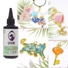 100ml Crystal Clear Ultraviolet Curing Epoxy Resin Hard UV Glue Solar Cure Sunlight Activated Resin DIY Jewelry Making