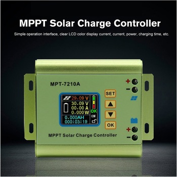 MPT-7210A Color LCD Display MPPT Solar Panel Charge Controller 24/36/48/60/72V Boost Solar Battery Controllers 1