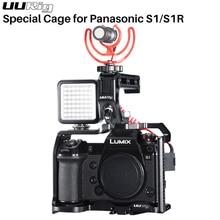UURig هيكل قفصي الشكل للكاميرا تلاعب لباناسونيك Lumix S1R S1Handgrip الإطار شل فيديو التصوير واقية حالة DSLR ملحقات الكاميرا