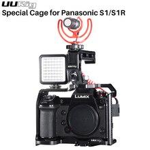 Uurig Khung Máy Ảnh Giàn Khoan Cho Máy Ảnh Panasonic Lumix S1R S1Handgrip Khung Vỏ Chụp Ảnh Quay Phim Ốp Lưng Bảo Vệ Máy Ảnh DSLR Phụ Kiện