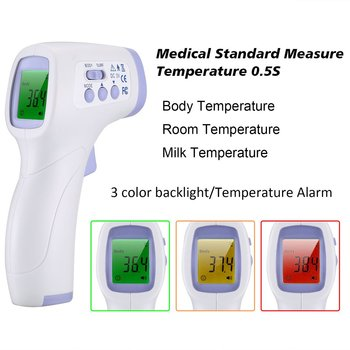 English Version Non Contact Infrared Thermometer Three Color Backlight Display Forehead Child Temperature Instrument