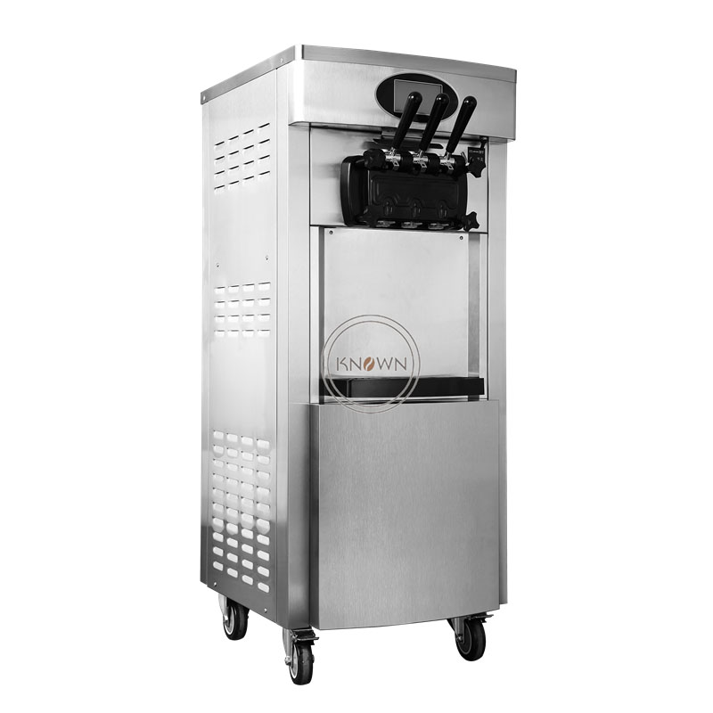 304 Stainless Steel 3 Flavors Soft Ice Cream Maker Machine With R410 Refrigerant