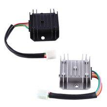 4 провода 4 контакта 12 регулятор напряжения Выпрямитель для 150-250CC Мотоцикл Скутер мопед ATV алюминиевый сплав черный белый(опционально