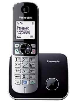 Panasonic KX-TG6811-Teléfono DECT (pared de escritorio/Digital 120 entradas LCD) negro (Importado de Italia)
