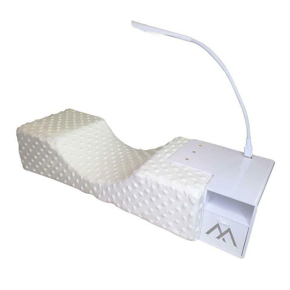 Professional USB Powered U Shape Pillow Acrylic Grafting Ergonomic Neck Support Disinfection Eyelash Extension Set LED Light